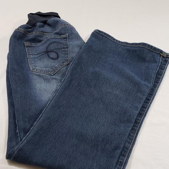 Indigo Blue Denim - INDIGO BLUE MATERNITY BLUE JEANS EUC SIZE XL